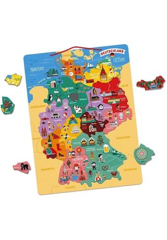 """Janod Konturenpuzzle """"Magnetische Landkarte Deutschland"""" kaufen"""