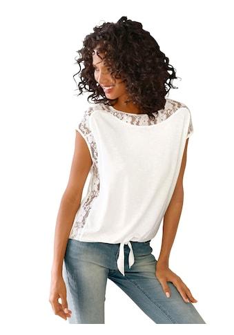 Lady Shirt mit verführerischer, transparenter Spitze kaufen