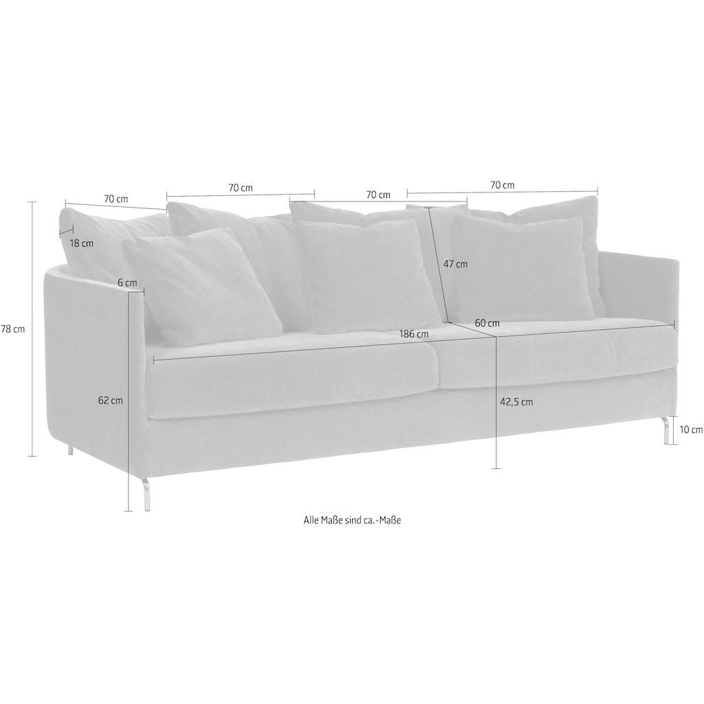 furninova 2,5-Sitzer »Harmony Night«, inklusive 4 Rücken- und 3 Zierkissen, im skandinavischen Design
