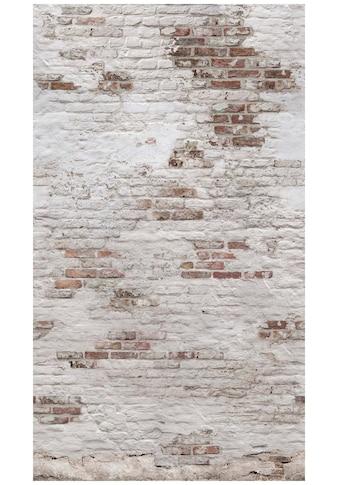 Bodenmeister Fototapete »3d Effekt Steinwand Vintage weiß« kaufen