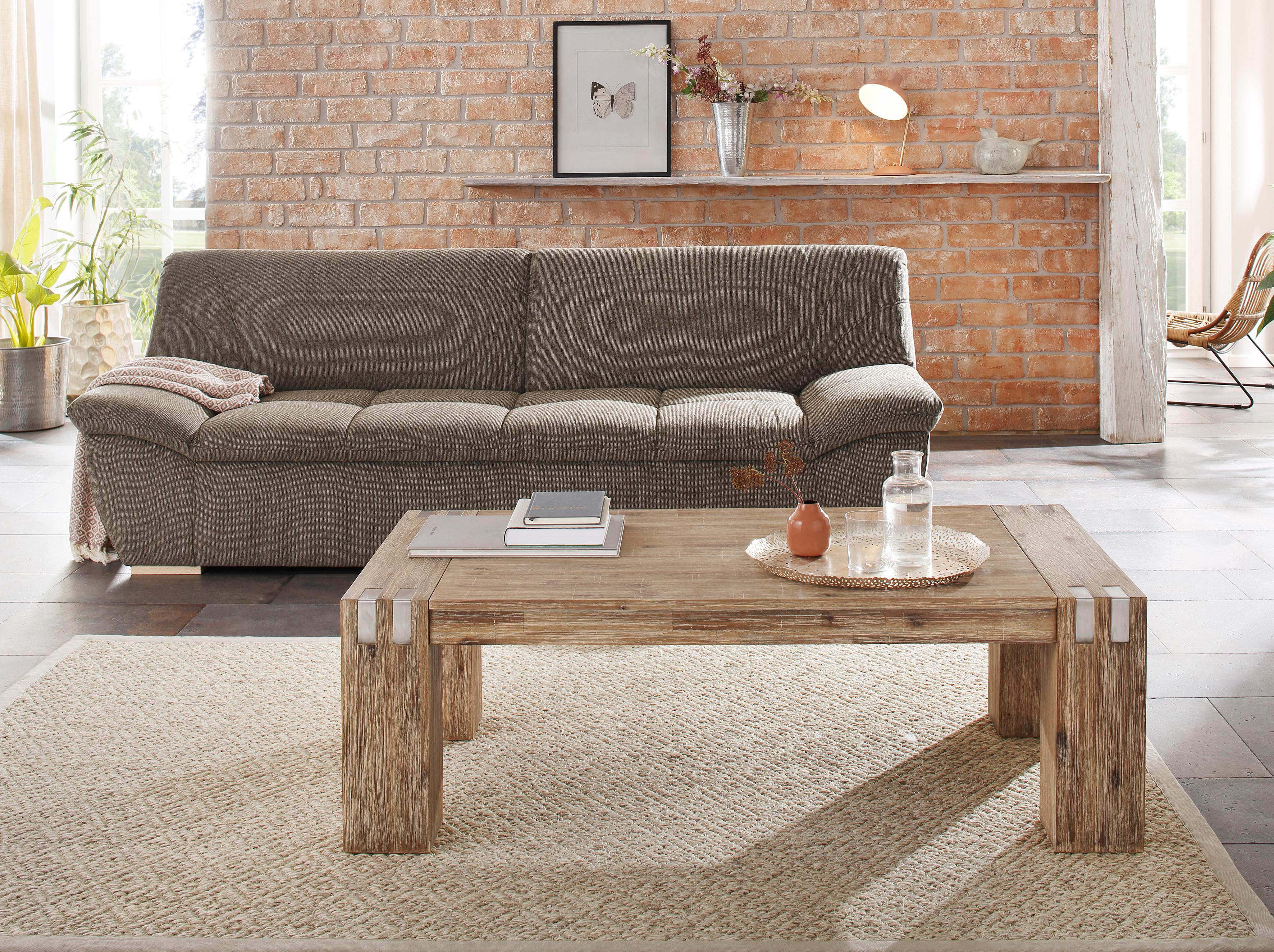 Home affaire Couchtisch »Basano« im rustikalen Flair aus massivem Akazienholz