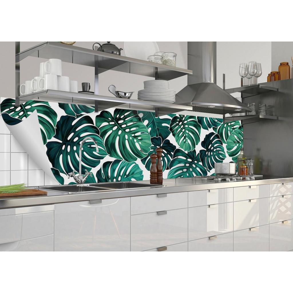 MySpotti Küchenrückwand »fixy Monstera«, selbstklebende und flexible Küchenrückwand-Folie
