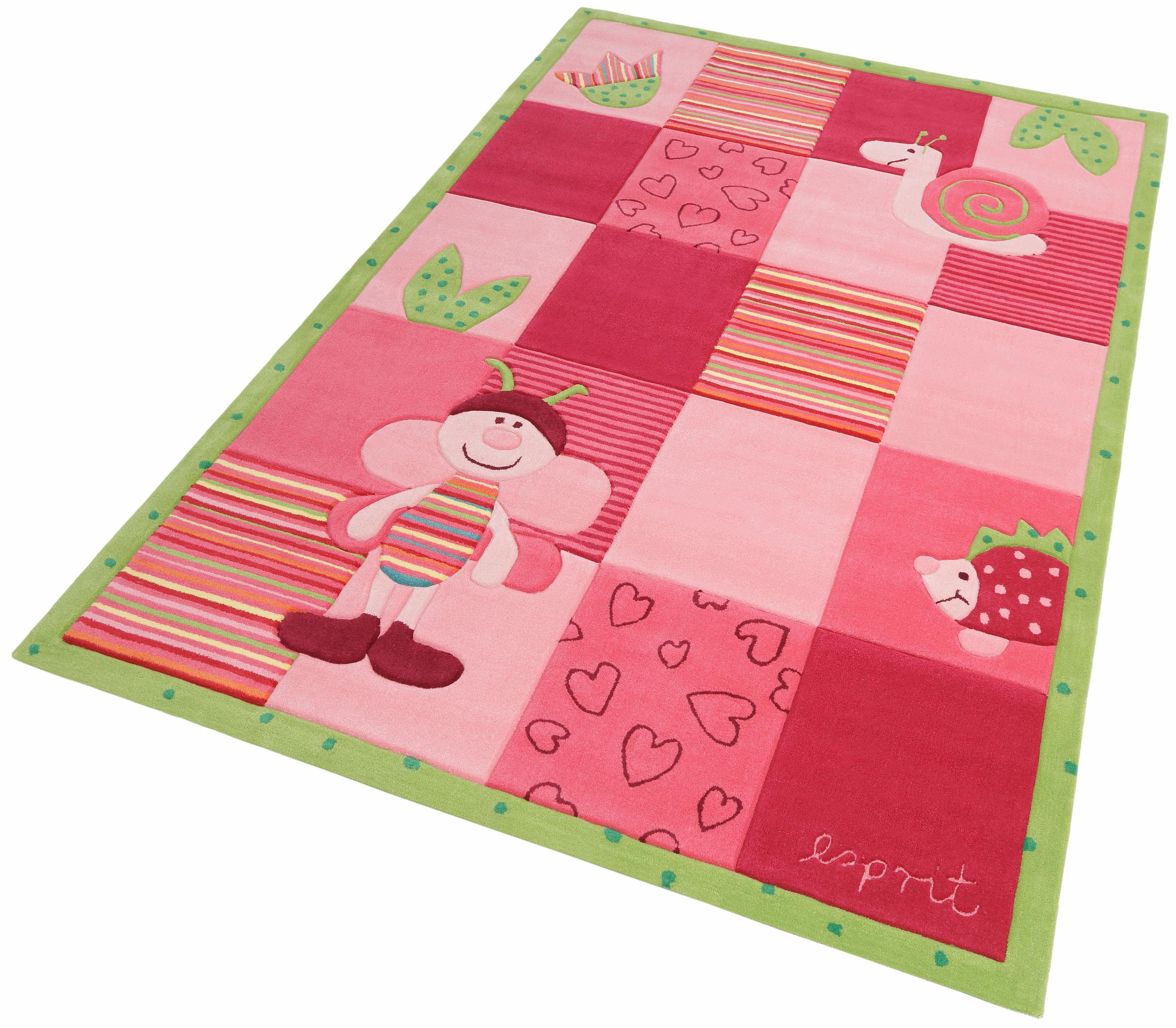 Esprit Kinderteppich Bee, rechteckig, 10 mm Höhe rosa Kinder Kinderteppiche mit Motiv Teppiche