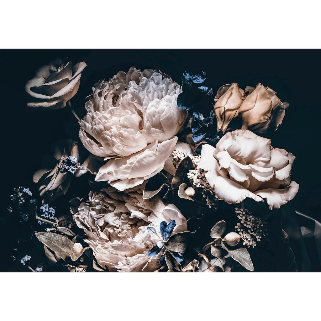 Consalnet Vliestapete »Cremefarbige Blumen«, floral