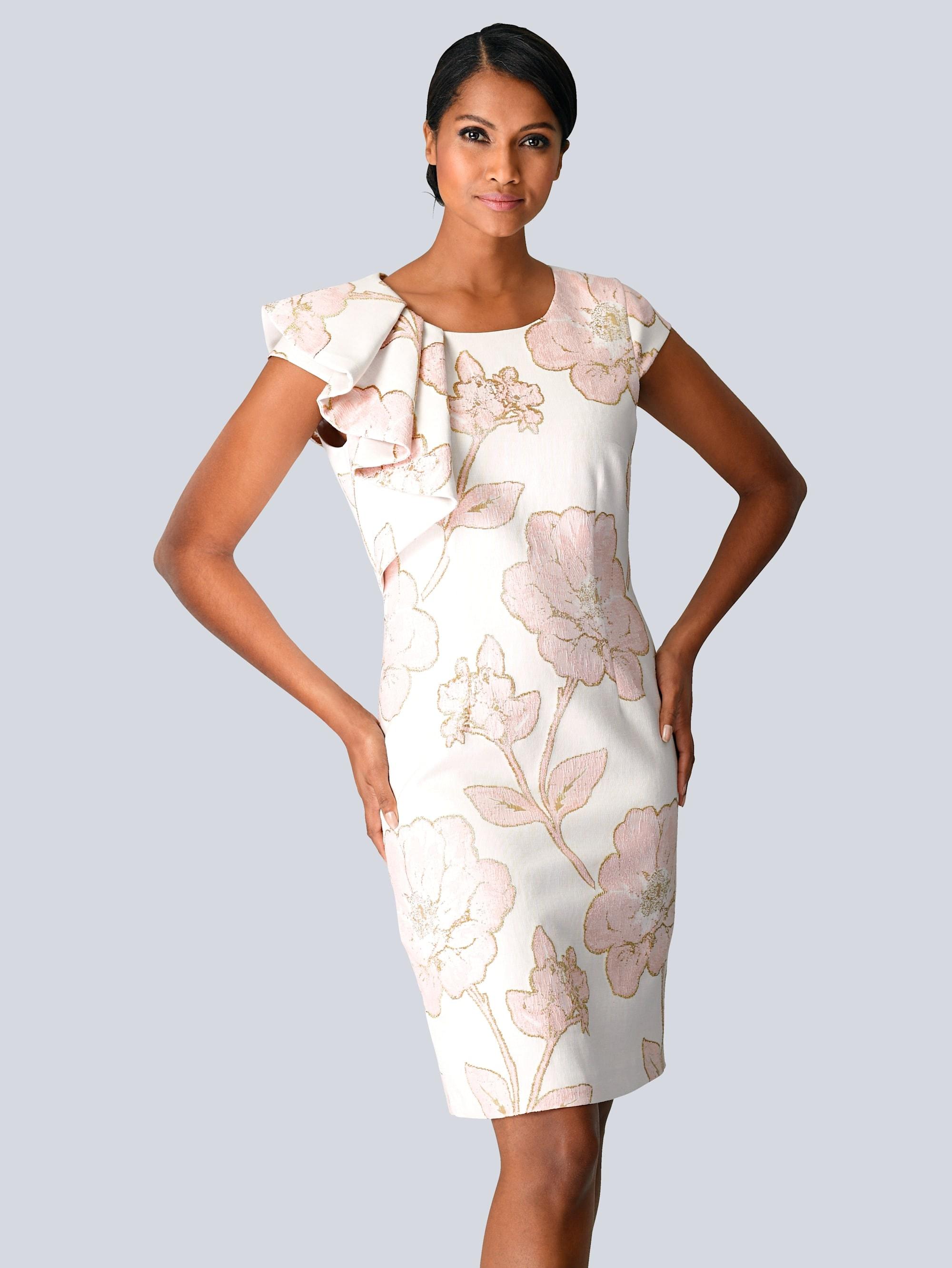 alba moda kleid in edlem jacquard