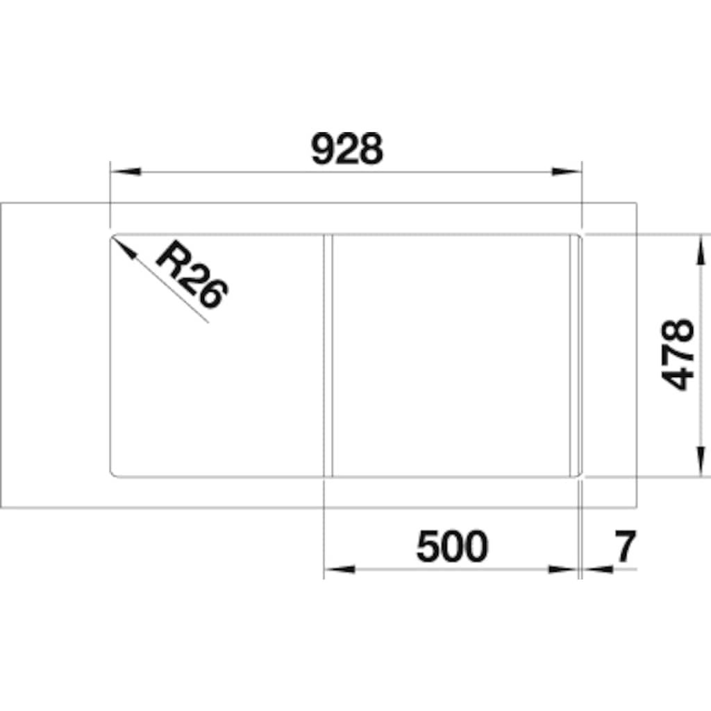 Blanco Küchenspüle »LANTOS 5 S-IF«, inklusive 1 Edelstahleinsatz