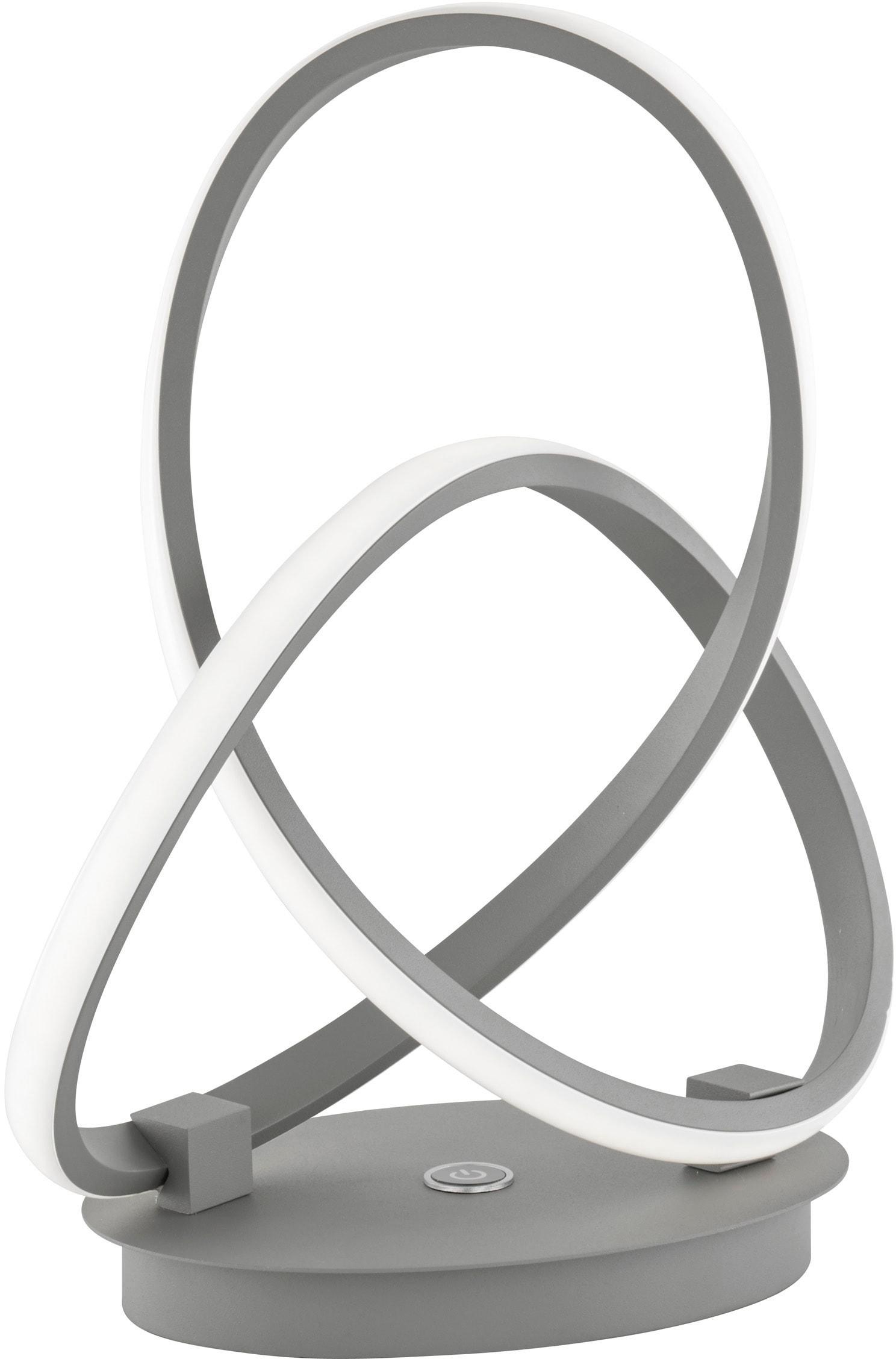 WOFI Tischleuchte INDIGO, LED-Board, Warmweiß, dimmbar mittels Touch, 3-Stufen