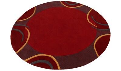 Theko Exklusiv Wollteppich »Bellary«, rund, 13 mm Höhe, reine Wolle, mit Bordüre,... kaufen
