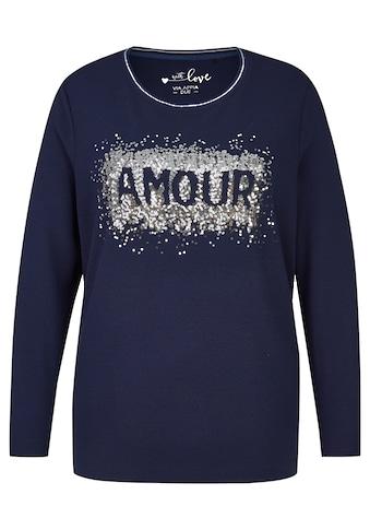 "VIA APPIA DUE Feminines Sweatshirt ""Amour"" Plus Size kaufen"