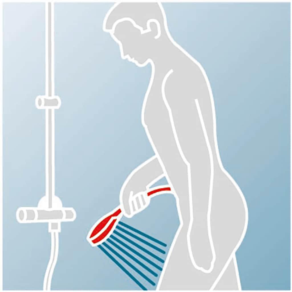 Schulte Duschsystem »Classic, Black Style«, mit Thermostat und Kopfbrause