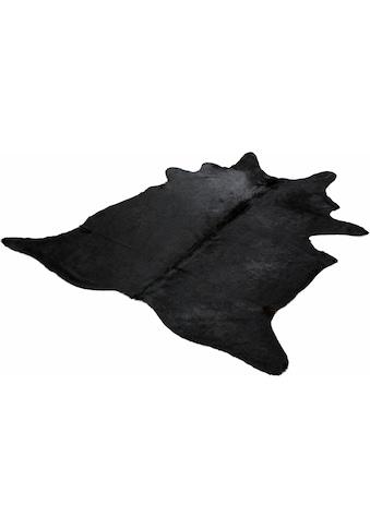 Fellteppich, »Fell schwarz«, Böing Carpet, fellförmig, Höhe 4 mm, Naturprodukt kaufen