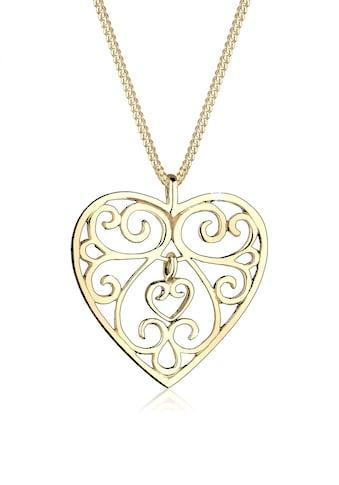 Elli Collierkettchen »Herz Ornament 925 Sterling Silber« kaufen