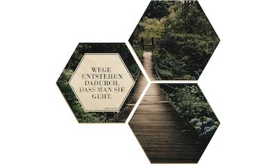 Holzbild »Wege entstehen dadurch, dass man sie geht« (Set) kaufen