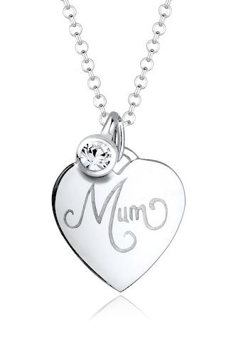 Elli Collierkettchen »Mum - Schriftzug Swarovski® Kristalle 925 Silber« kaufen
