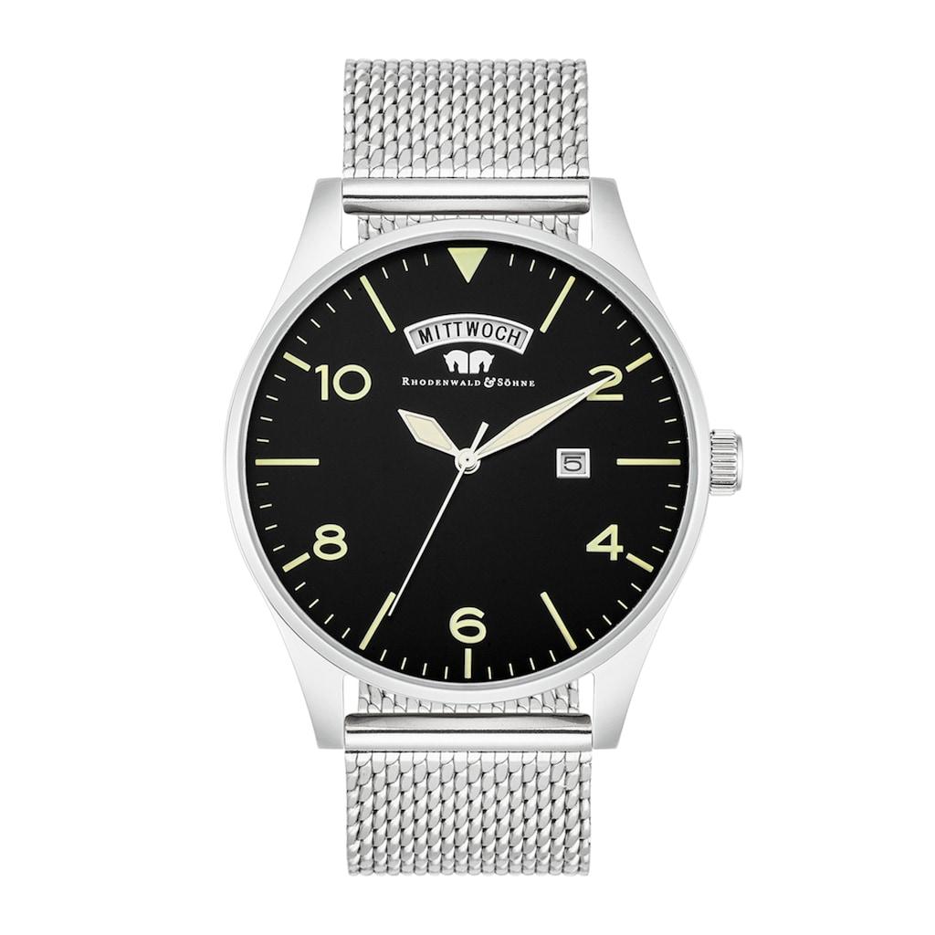 Rhodenwald & Söhne Quarzuhr »RWS010«, (1 tlg.), Armband aus Edelstahl