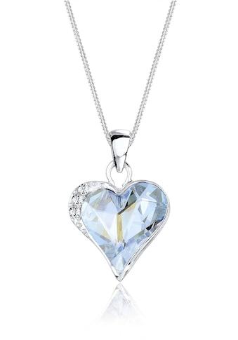 Elli Collierkettchen »Herz Love Kristalle Silber« kaufen