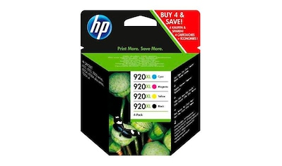 HP Tintenpatrone »hp 920XL, original, C2N92AE, sw/c/m/y 4 St./Pack.« kaufen