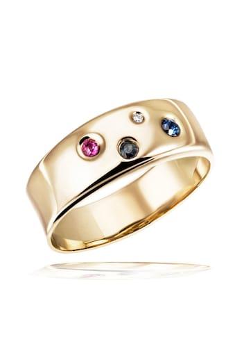 goldmaid Damenring 375/ -  Gelbgold 1 Rubin 2 Saphire 1 Dia. 0,01 ct. kaufen