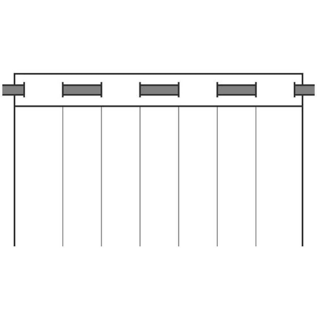 Neutex for you! Vorhang »Allure«, HxB: 245x140, Ösenschal mit Metallösen