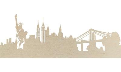 Wanddekoobjekt »Pappel Furnier  -  Skyline New York« kaufen