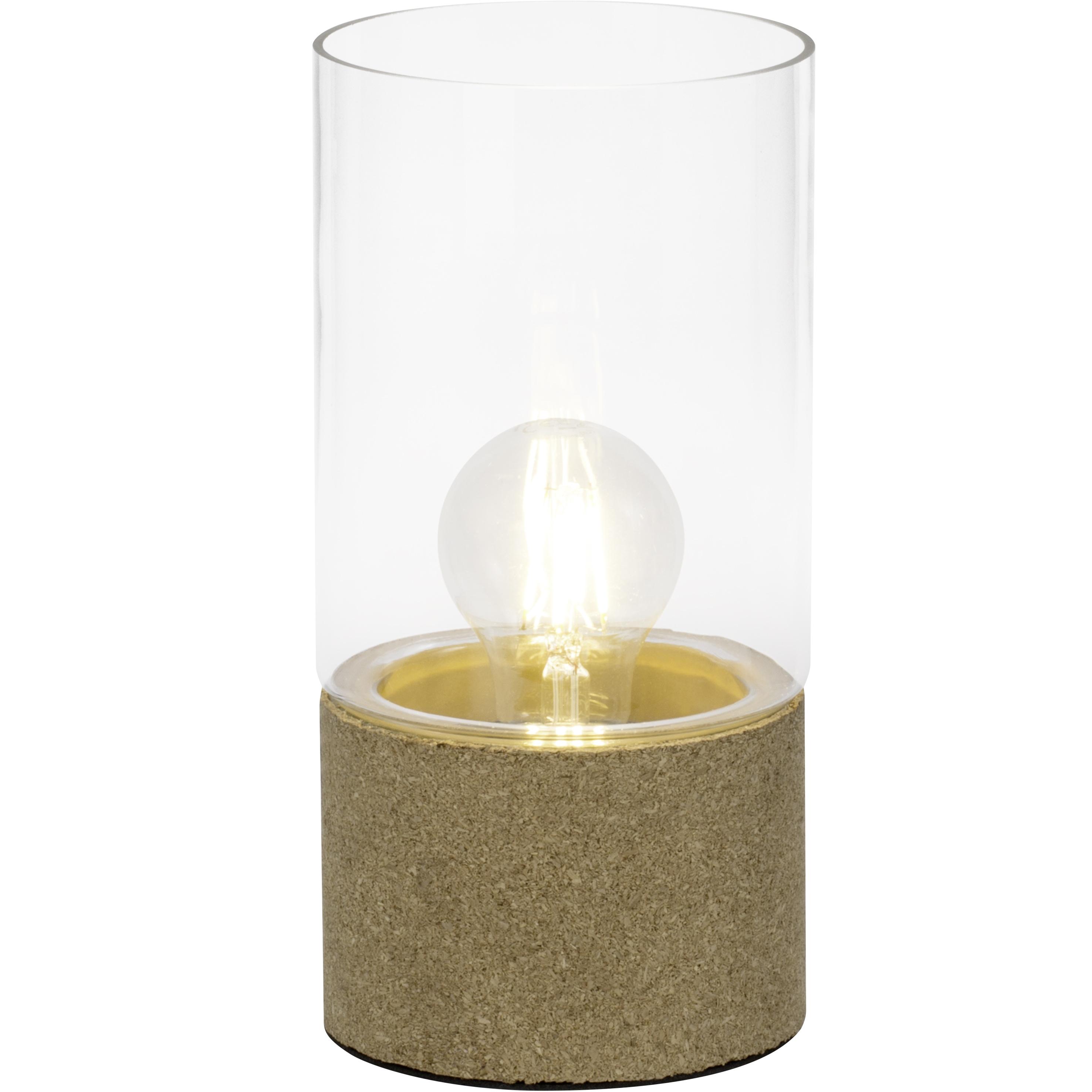 Brilliant Leuchten Larsen Tischleuchte transparent/beige