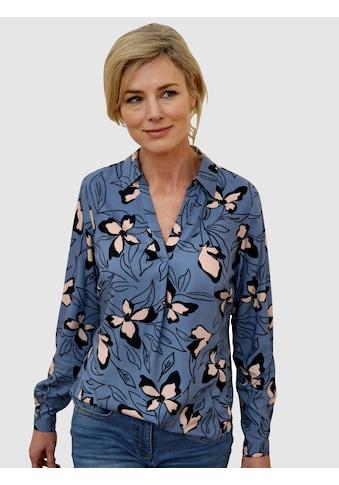 Dress In Schlupfbluse, mit schönem Blumendruck kaufen