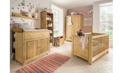 Fantasykids Babyzimmer-Komplettset, (Set, 7 tlg., Bett + Wickelkommode + 1x Unterbauregal + 2-trg. Schrank + Strandregal + Deckeltruhe + Wandboard) kaufen