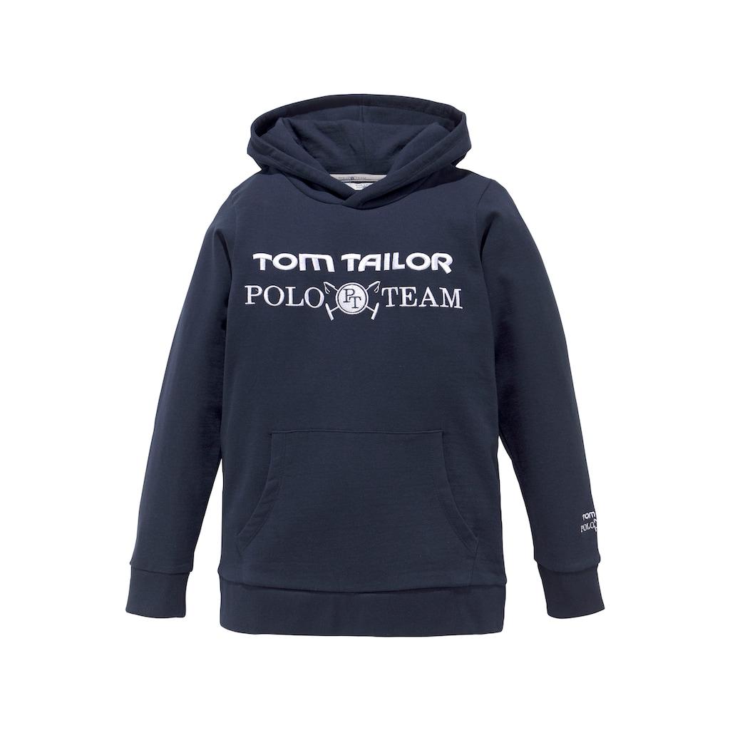 TOM TAILOR Polo Team Kapuzensweatshirt, mit Stickereien