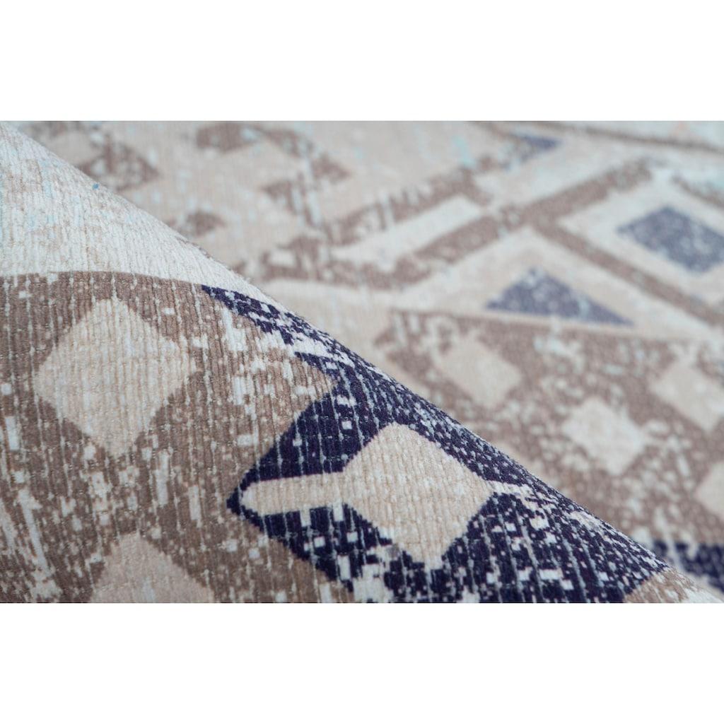 andas Teppich »Ruben«, rechteckig, 10 mm Höhe, Vintage Design, Wohnzimmer