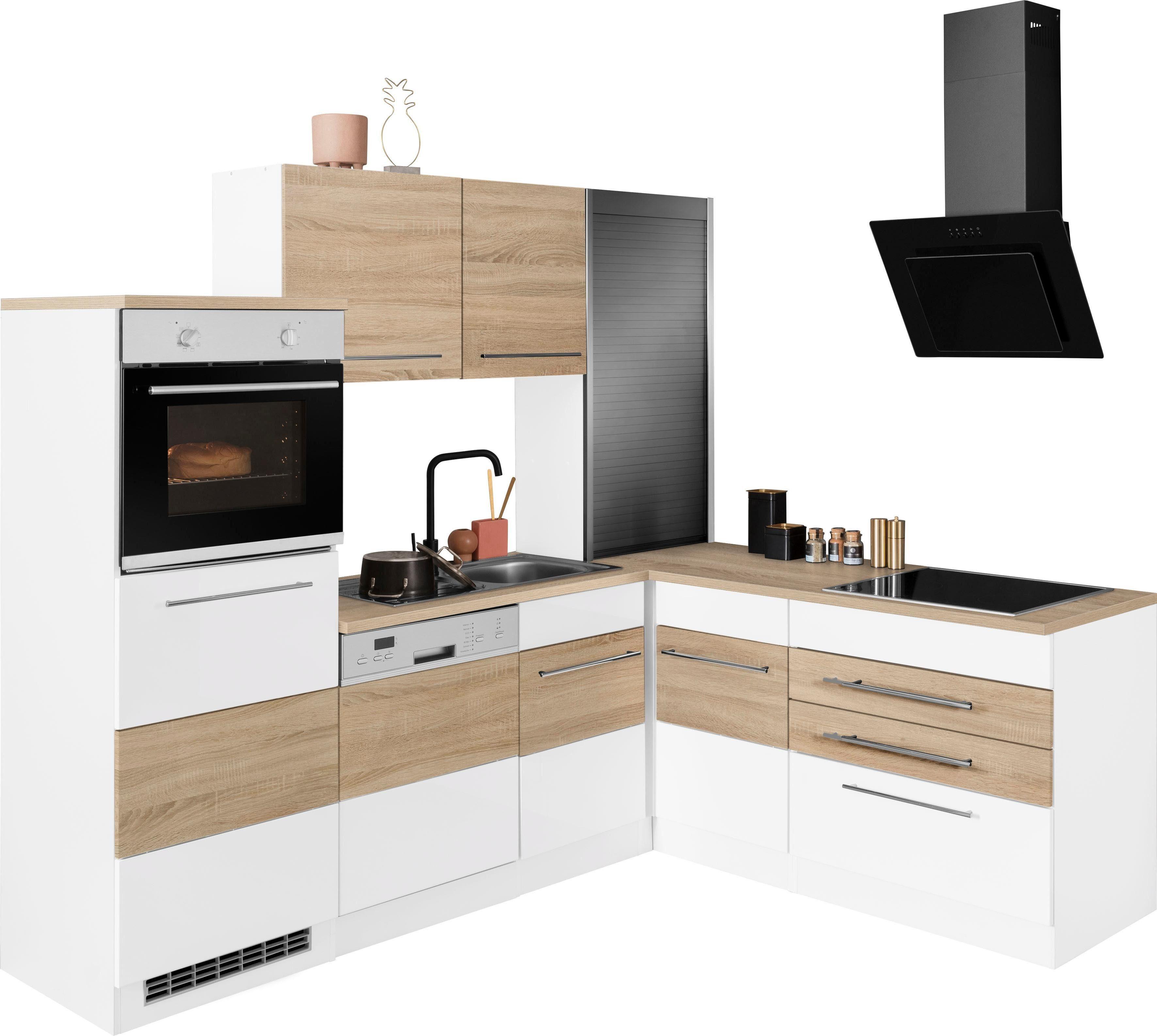 HELD MÖBEL Winkelküche Trient mit E-Geräten Stellbreite 230/190 cm