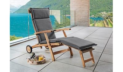 Destiny Polsterauflage »Deckchair«, grau, 180 cm Länge kaufen