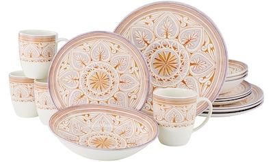 CreaTable Kombiservice »Majolika«, (Set, 16 tlg., 4 Speiseteller 26 cm 4 Dessertteller... kaufen