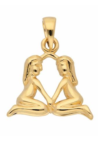 Adelia´s Kettenanhänger »585 Gold Sternzeichen Anhänger Zwilling«, Goldschmuck für... kaufen