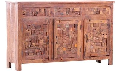 Gutmann Factory Sideboard »Puzzle«, mit Fronten aus recyceltem Altholz kaufen
