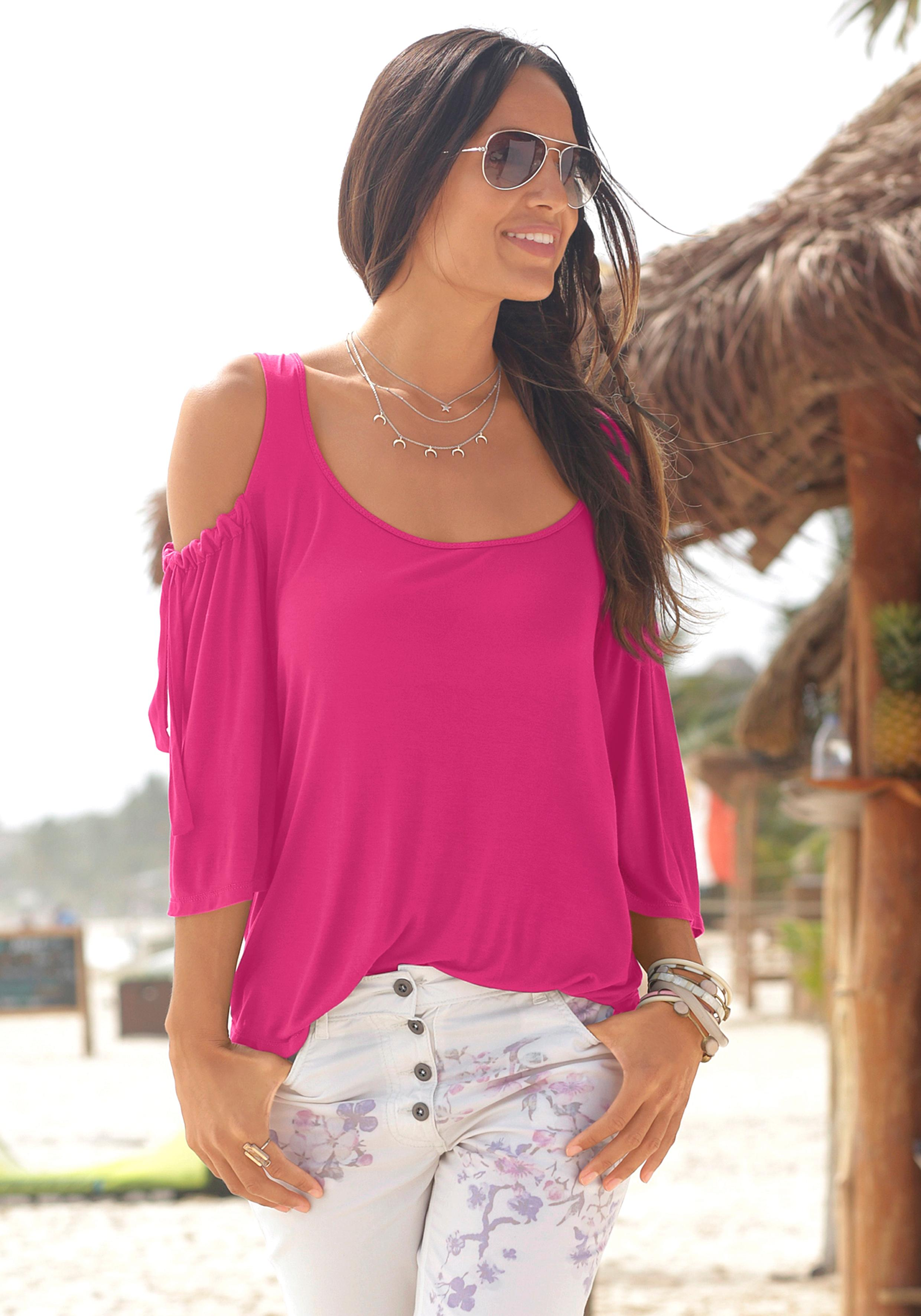 LASCANA Rundhalsshirt | Bekleidung > Shirts > Rundhalsshirts | Lascana