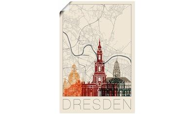 Artland Wandbild »Retro Karte Dresden« kaufen