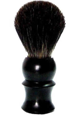 Golddachs Rasierpinsel, 100% Dachshaar, schwarzer Kunststoffgriff kaufen