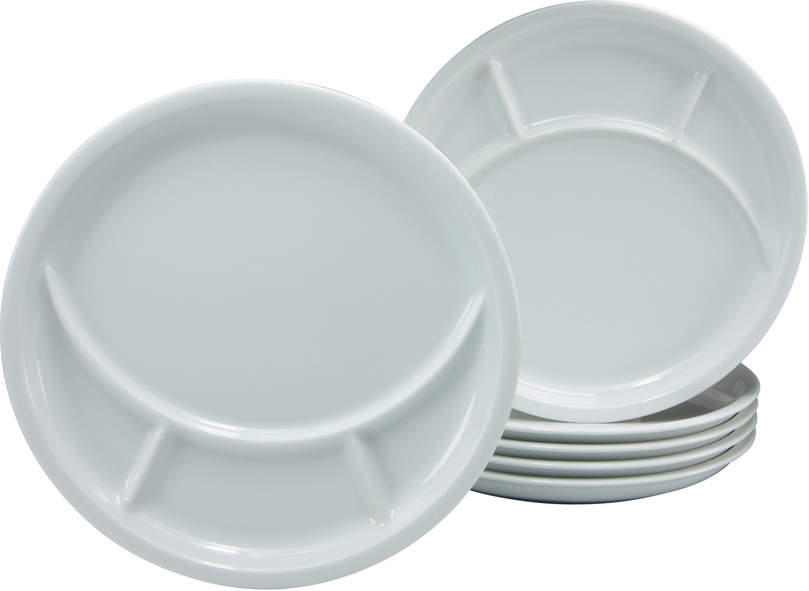 CreaTable Fondueteller, Porzellan, 6 Stück | Küche und Esszimmer > Küchengeräte > Fondue | Weiß | CREATABLE