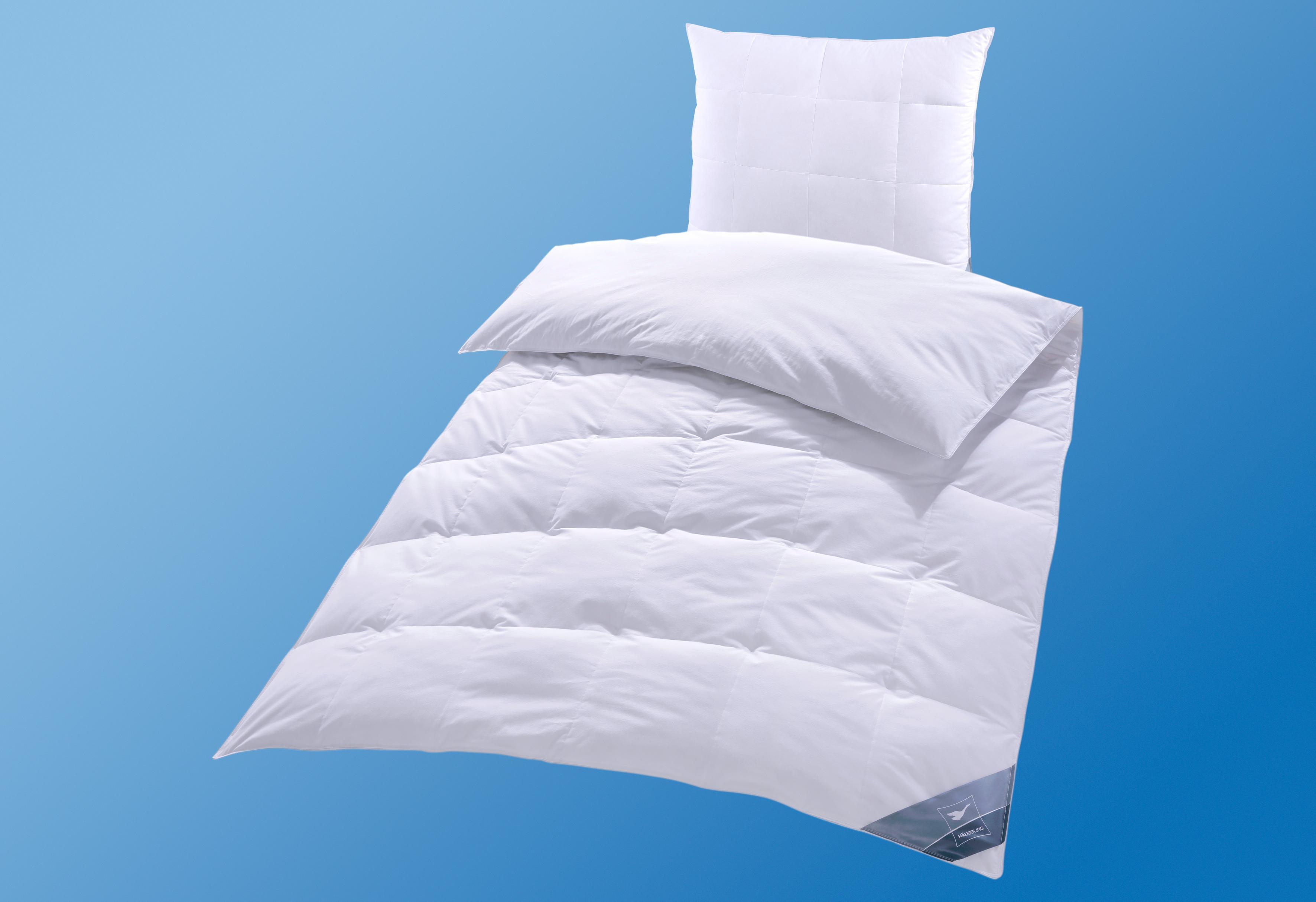 Daunenbettdecke BodyPerfect Haeussling warm Füllung: 60% Daunen 40% Federn Bezug: 100% Baumwolle