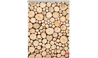 LICHTBLICK Seitenzugrollo »Klemmfix Motiv Holzstapel«, Lichtschutz, ohne Bohren, freihängend, bedruckt kaufen