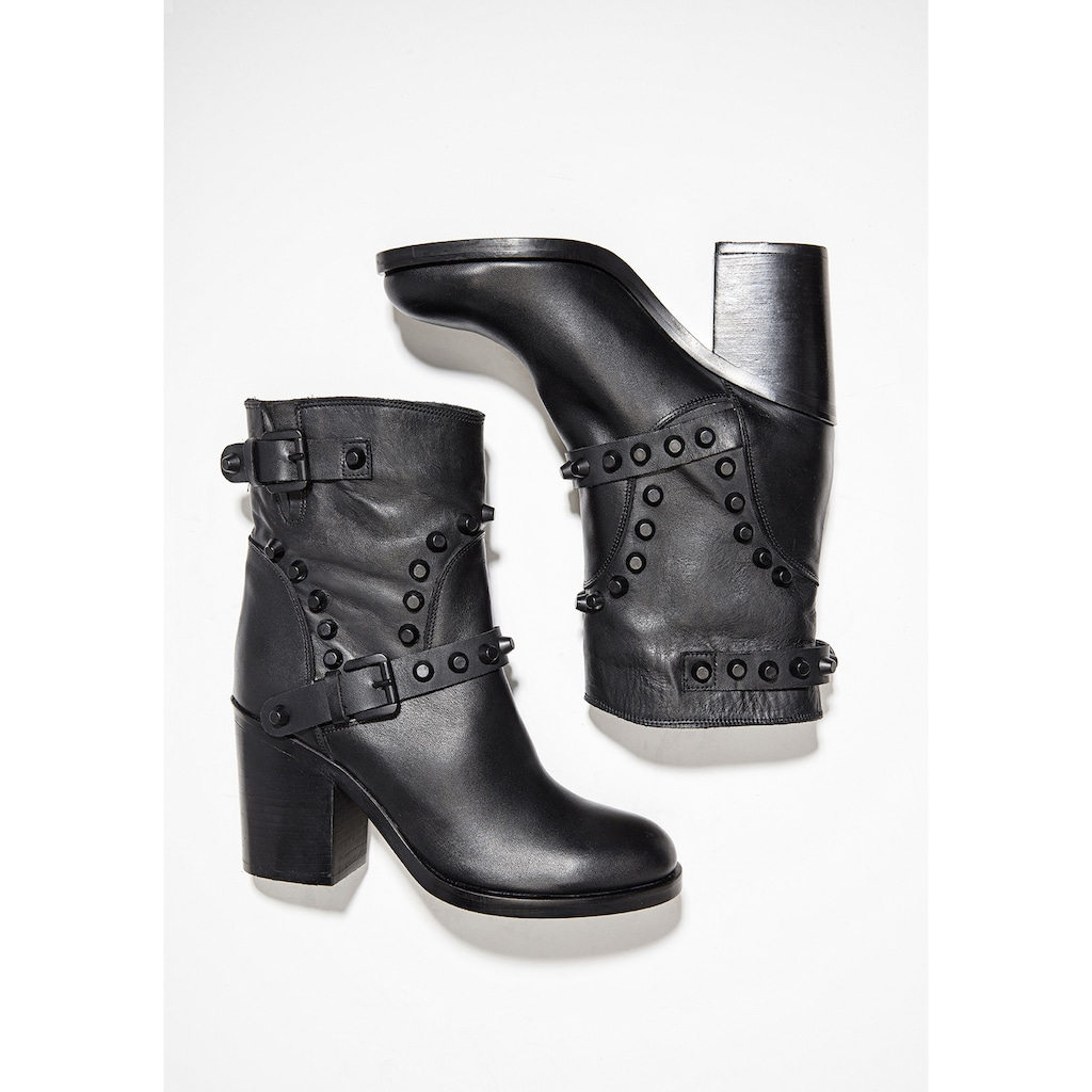 INUOVO High-Heel-Stiefelette »Leder«