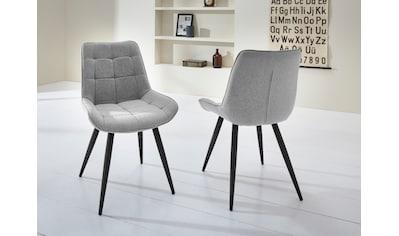 """Duo Collection Esszimmerstuhl """"Iris"""", 2er - Set, elegante Rautensteppung kaufen"""