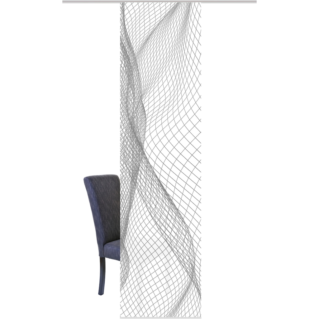 HOME WOHNIDEEN Schiebegardine »NETOX«, HxB: 245x60, Dekostoff Digitaldruck
