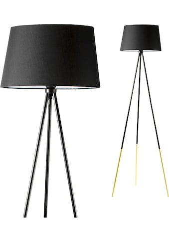 Pauleen Stehlampe »Grand Treasure«, E27, 1 St., Stoffschirm Schwarz kaufen