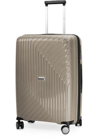 Hauptstadtkoffer Hartschalen-Trolley »TXL, 66 cm, champagner«, 4 Rollen kaufen