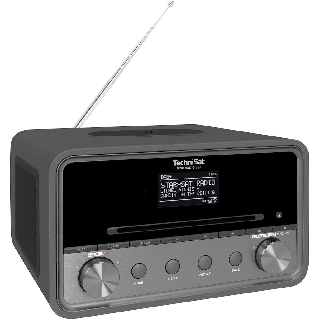 TechniSat Internet-Radio »DIGITRADIO 584 Stereo«, (Bluetooth-WLAN Digitalradio (DAB+)-UKW mit RDS-Internetradio ), CD, Bluetooth, Farbdisplay, USB, Wireless Charging, Alexa-Sprachsteuerung