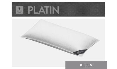 SPESSARTTRAUM 3-Kammer-Kopfkissen »Platin«, Füllung: Außen:100% Gänsedaunen, Innen: 100% Gänsefedern, Bezug: 100% Baumwolle, (1 St.), hergestellt in Deutschland, allergikerfreundlich kaufen