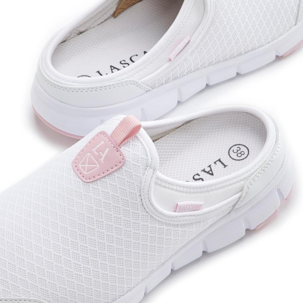 LASCANA Slip-On Sneaker, Clog aus leichtem Mesh-Material