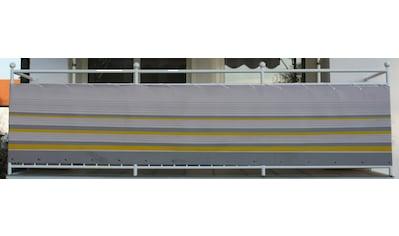Angerer Freizeitmöbel Balkonsichtschutz »Nr. 600«, Meterware, gelb/grau, H: 90 cm kaufen