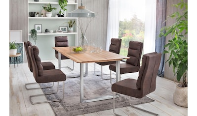 Premium collection by Home affaire Esstisch »Montreal«, Eichenholzlamellen geölt mit... kaufen